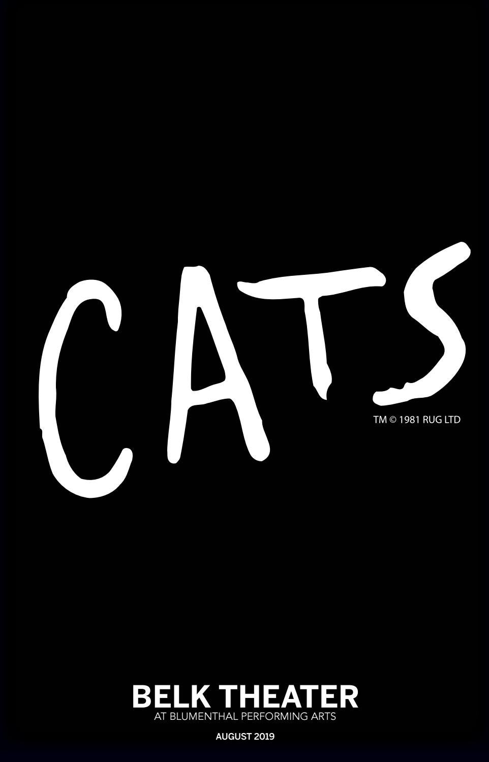 Cats Online Playbill By Blumenthal Performing Arts Issuu