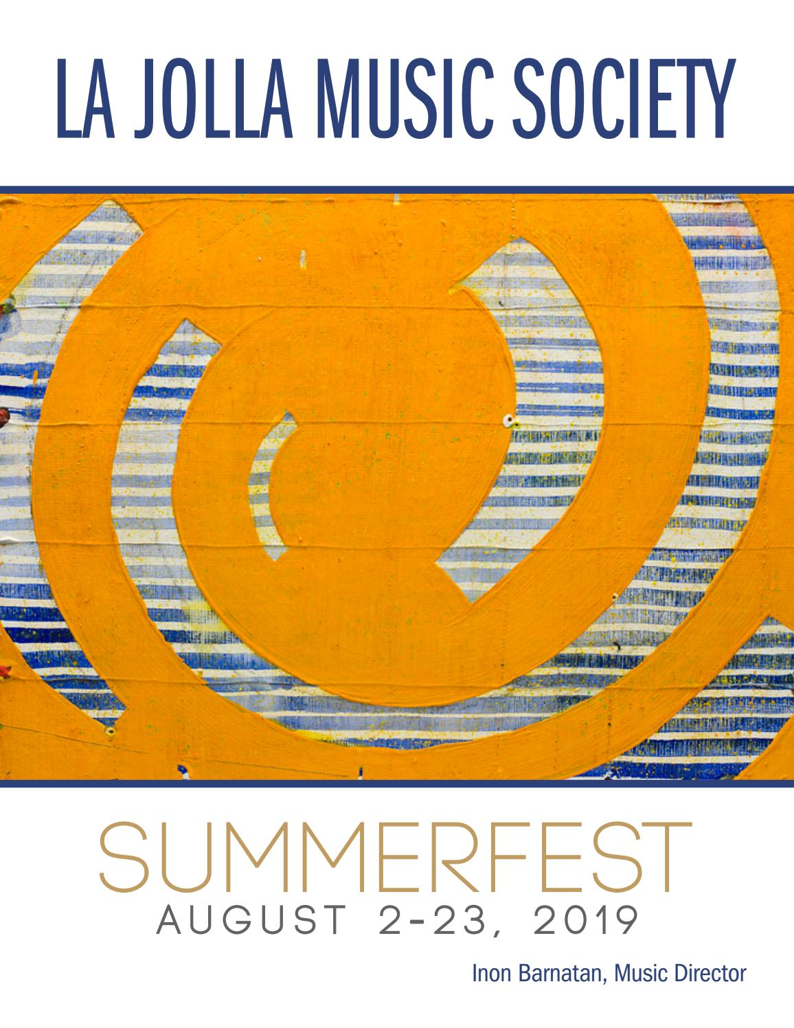 SummerFest 2019 Program book by La Jolla Music Society - issuu