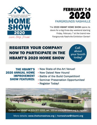 Builders Show 2020.2020 Hbamt Home Show Registration Brochure By Home Builders