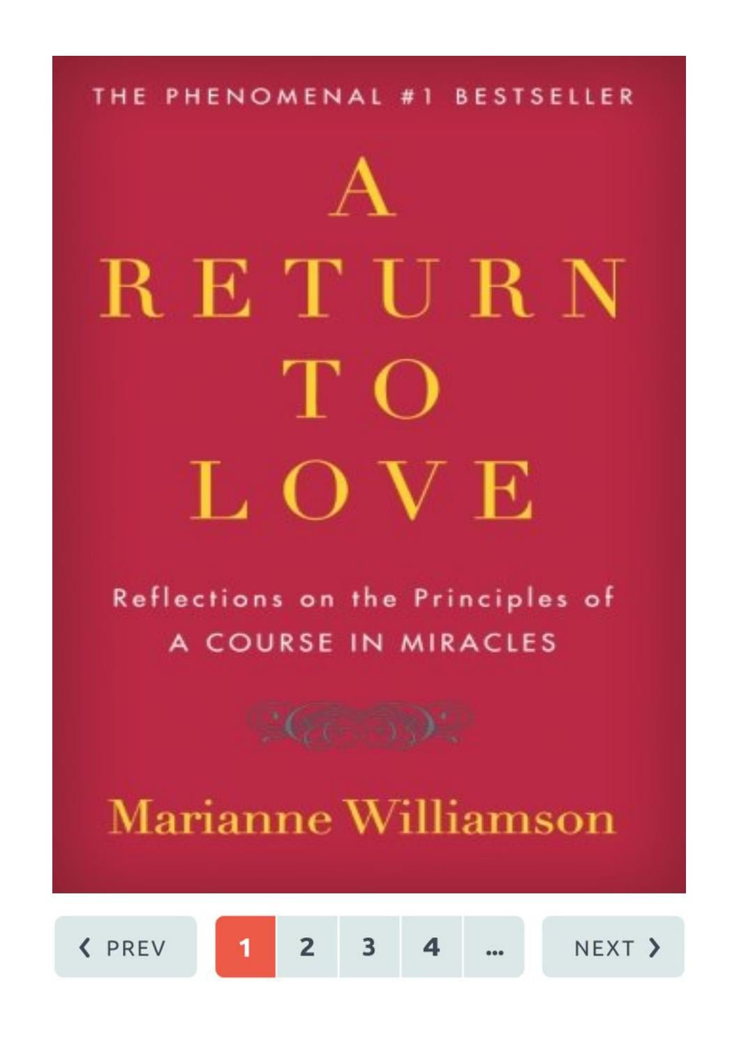 A Return To Love Marianne Williamson Reflections On The Principles Of A Course In Miracles By Patricia Berthelsen Issuu