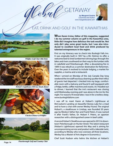 Page 14 of Eat, Golf and Sip your way through the Kawarthas