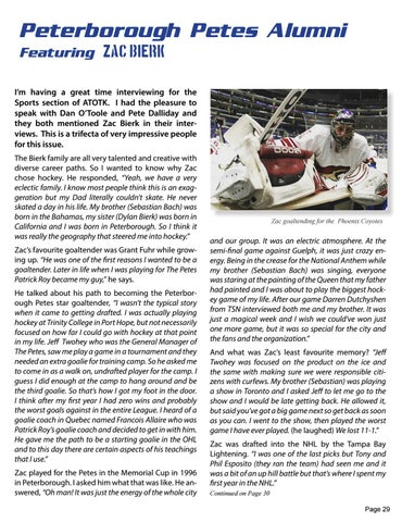 Page 29 of Zac Bierk - Peterborough Petes Alumni