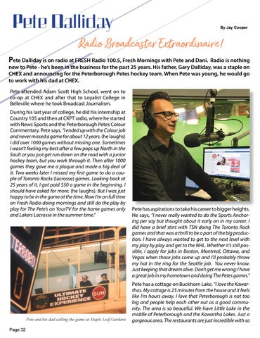 Page 32 of Pete Dalliday Radio Broadcaster Extraordinaire!