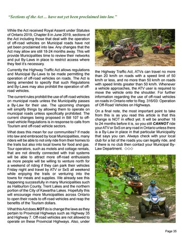 Page 35 of ATV Trails by KATV President Carolyn Richards