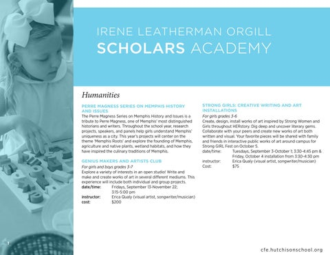 Page 4 of Check out offerings in the Scholars Academy!