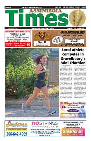 Assiniboia Times, August 9, 2019 by Assiniboia Times - issuu