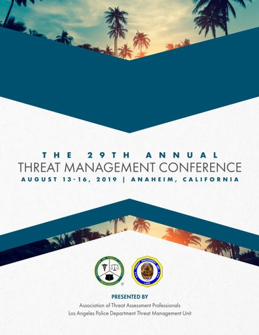 ATAP   2019 Threat Management Conference Onsite Guide by SMA