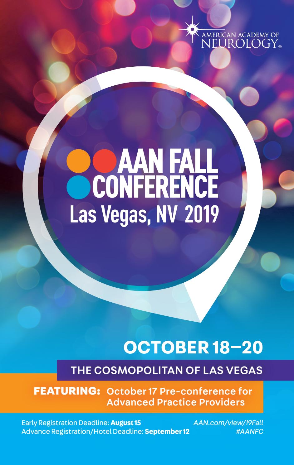 2019 AAN Fall Conference Program for Advanced Practice