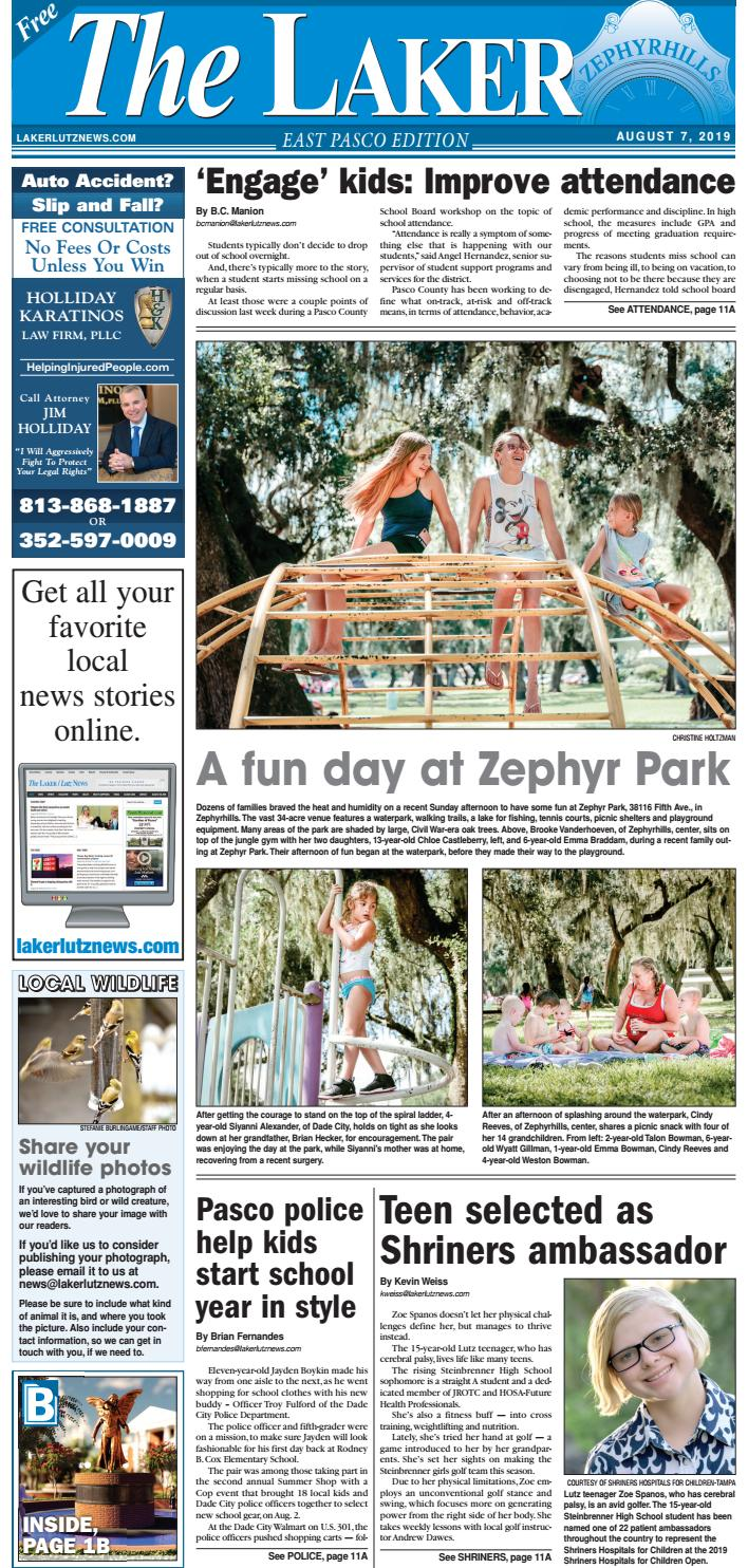 the laker east pasco august 7 2019 by lakerlutznews issuu issuu
