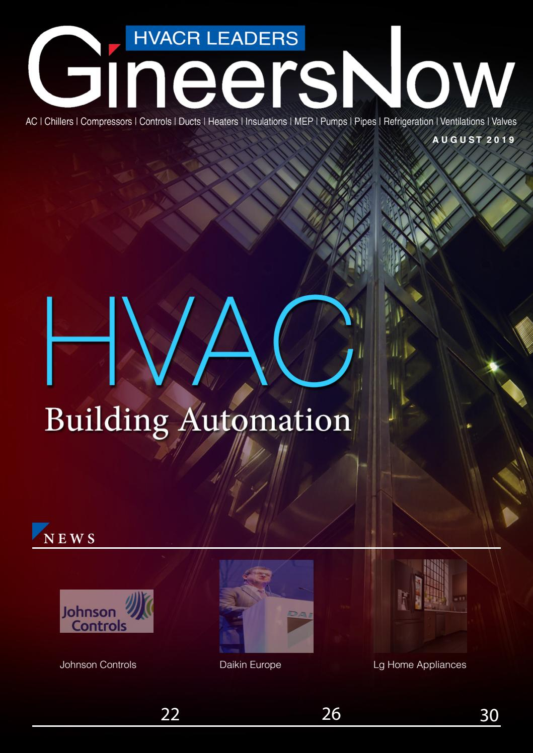 The Latest Building Automation, HVACR Leaders magazine