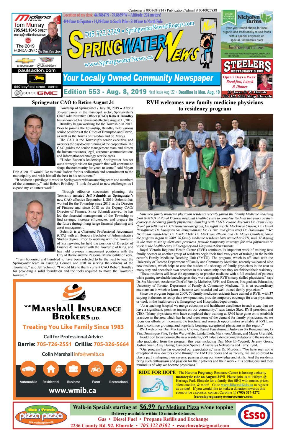 Springwater news by Springwater News - issuu
