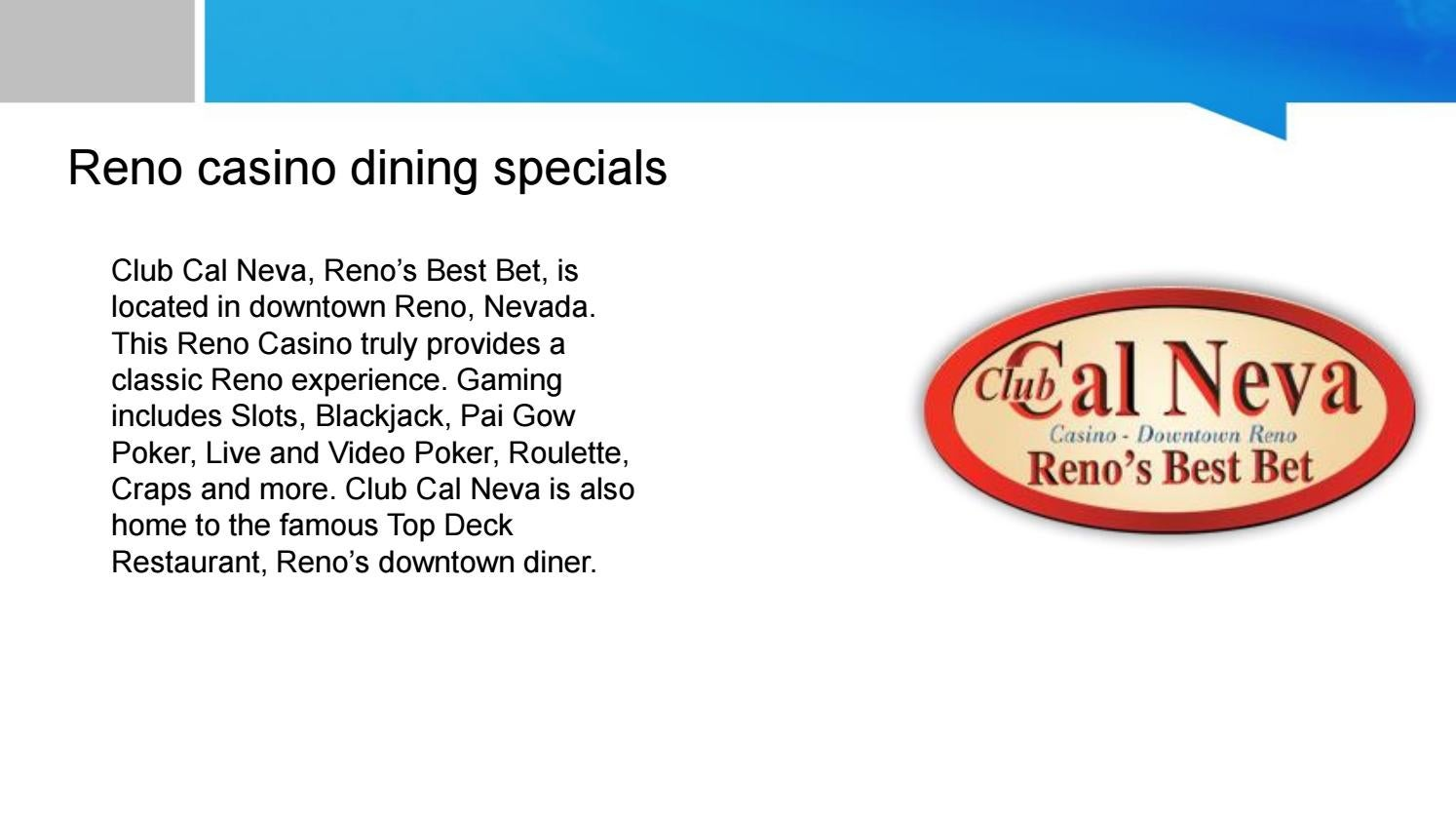 Reno Dining Specials Clubcalneva By Issuu