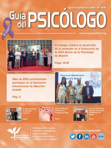 Guía Del Psicólogo Mes De Agosto Septiembre 2019 By Colegio