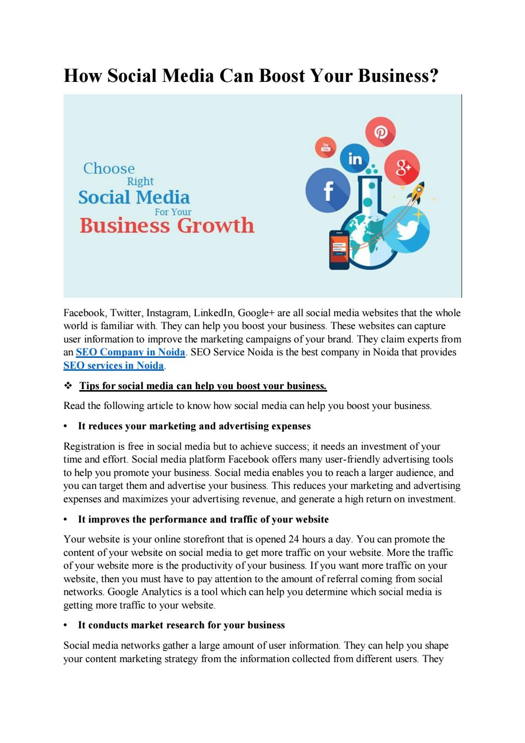 How Social Media Can Boost Your Business by Wisteria Technologies ...