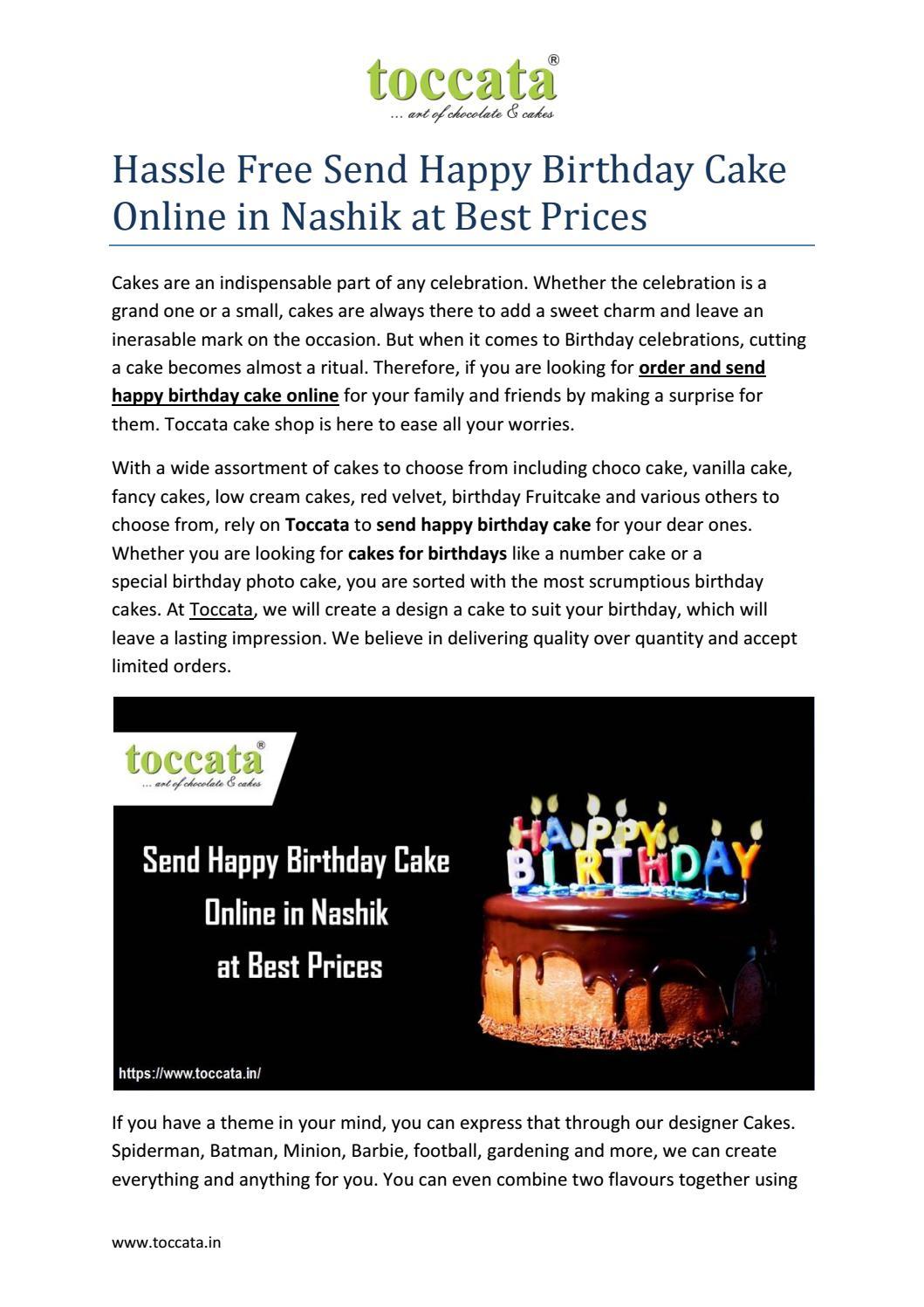 Brilliant Send Happy Birthday Cake Online In Nashik By Toccata101 Issuu Funny Birthday Cards Online Overcheapnameinfo