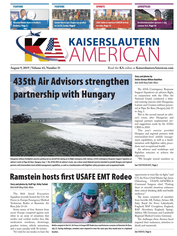 Kaiserslautern American, August 9, 2019 by AdvantiPro GmbH