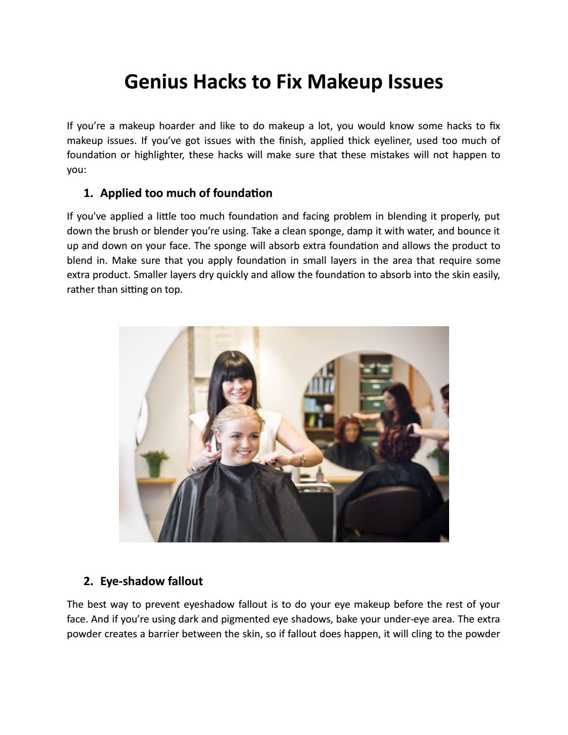 Genius Hacks to Fix Makeup Issues by Duvall School - issuu