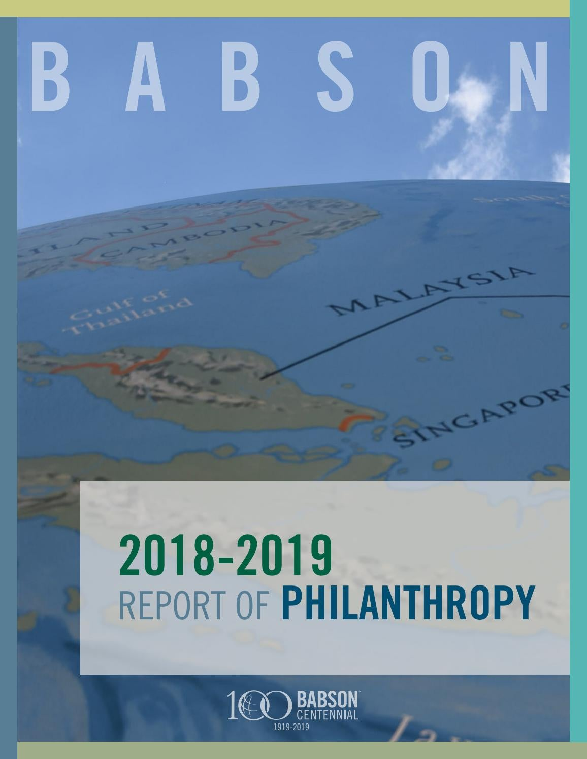Babson College Report of Philanthropy 2018-2019 by Babson
