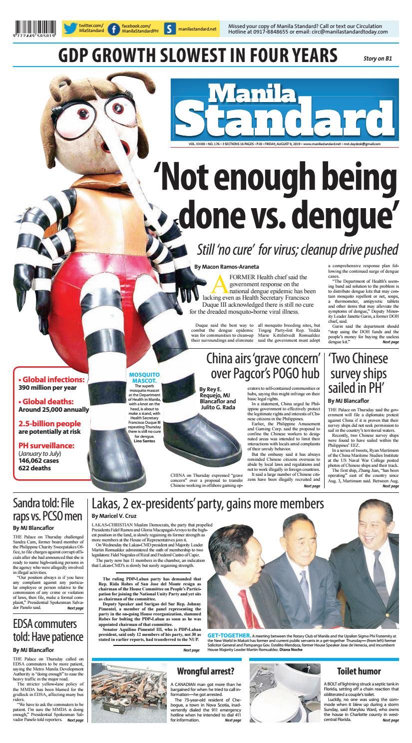 Manila Standard - 2019 August 9 - Friday by Manila Standard
