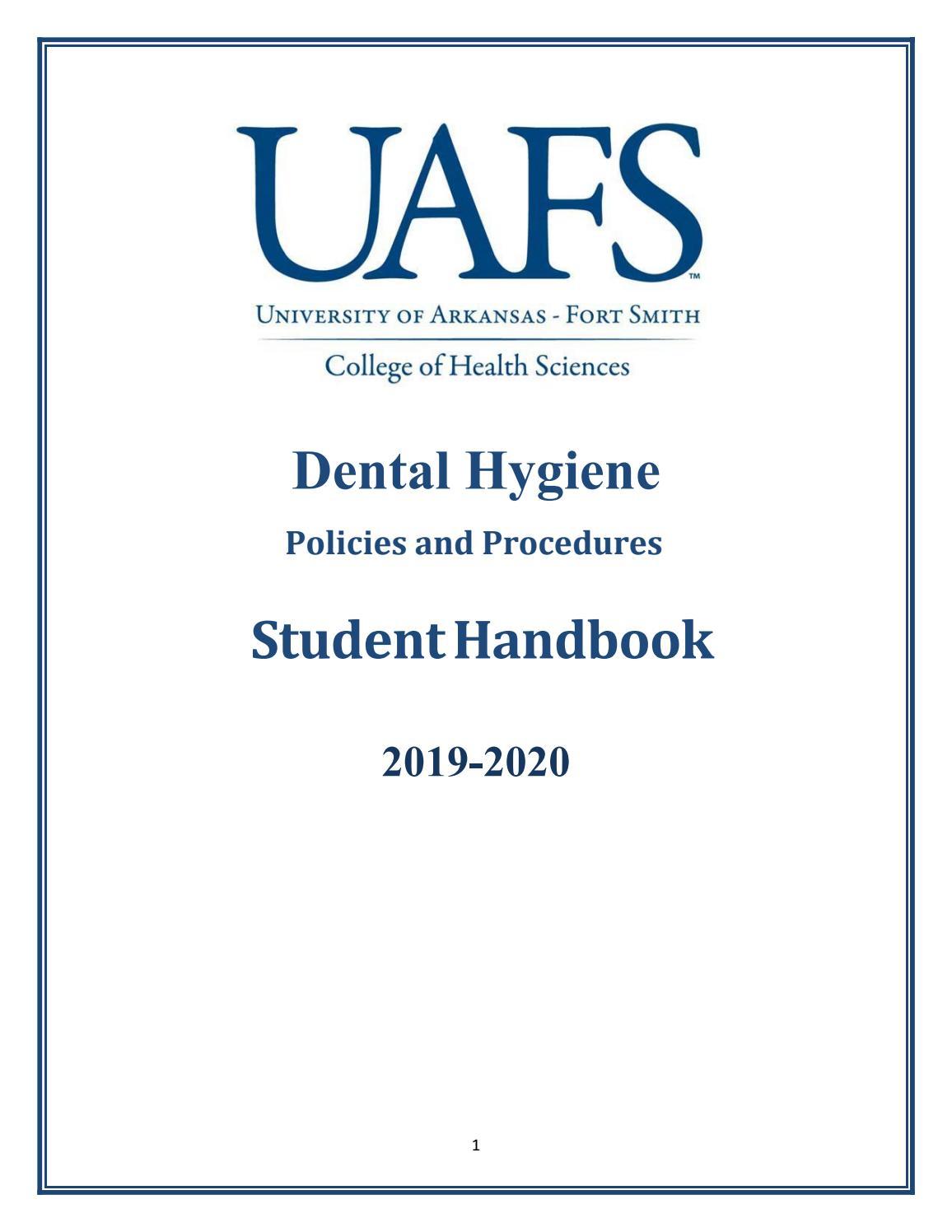 Dental Hygiene Policies & Procedures Manual by University of