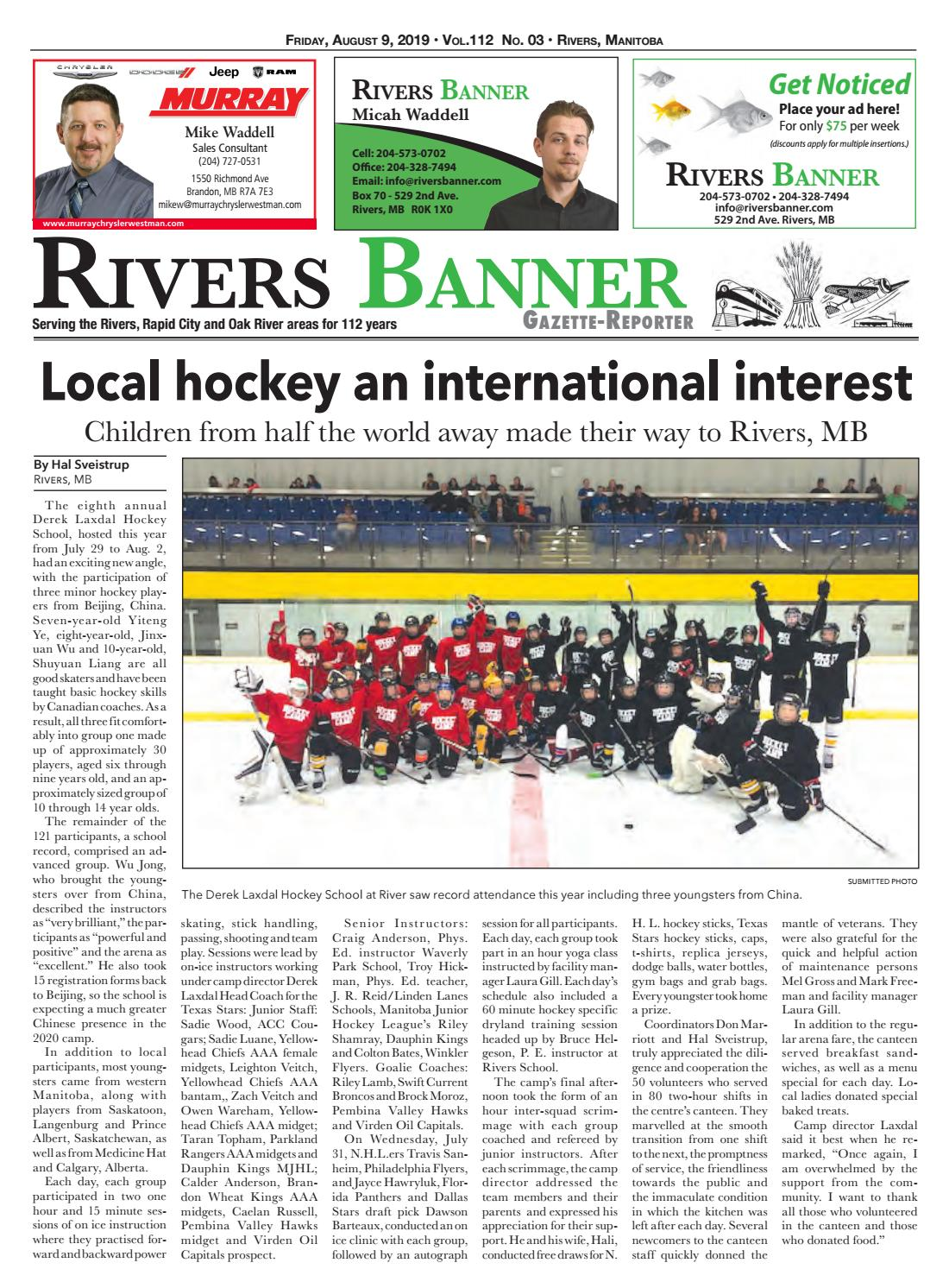 August 9 2019 By Rivers Banner Issuu