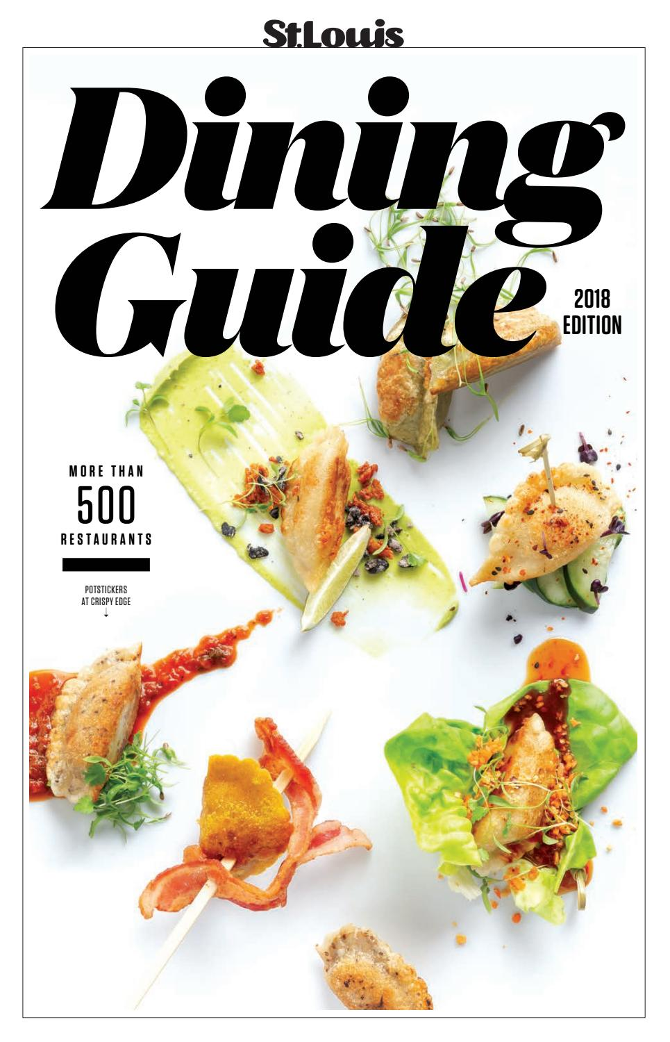 2018 Dining Guide By St Louis Magazine Issuu