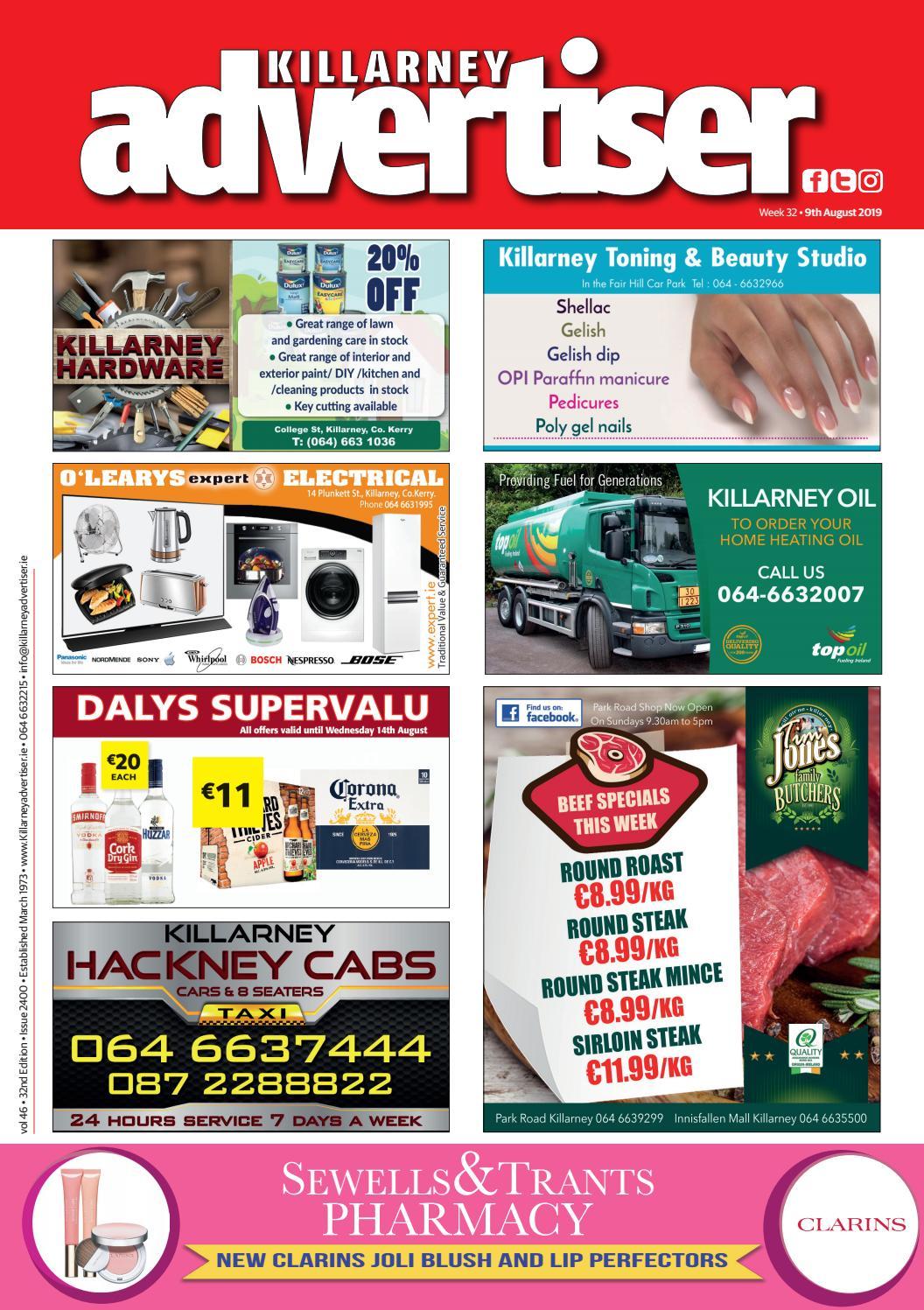 Killarney Advertiser 9th August 2019 By Killarney Advertiser Issuu