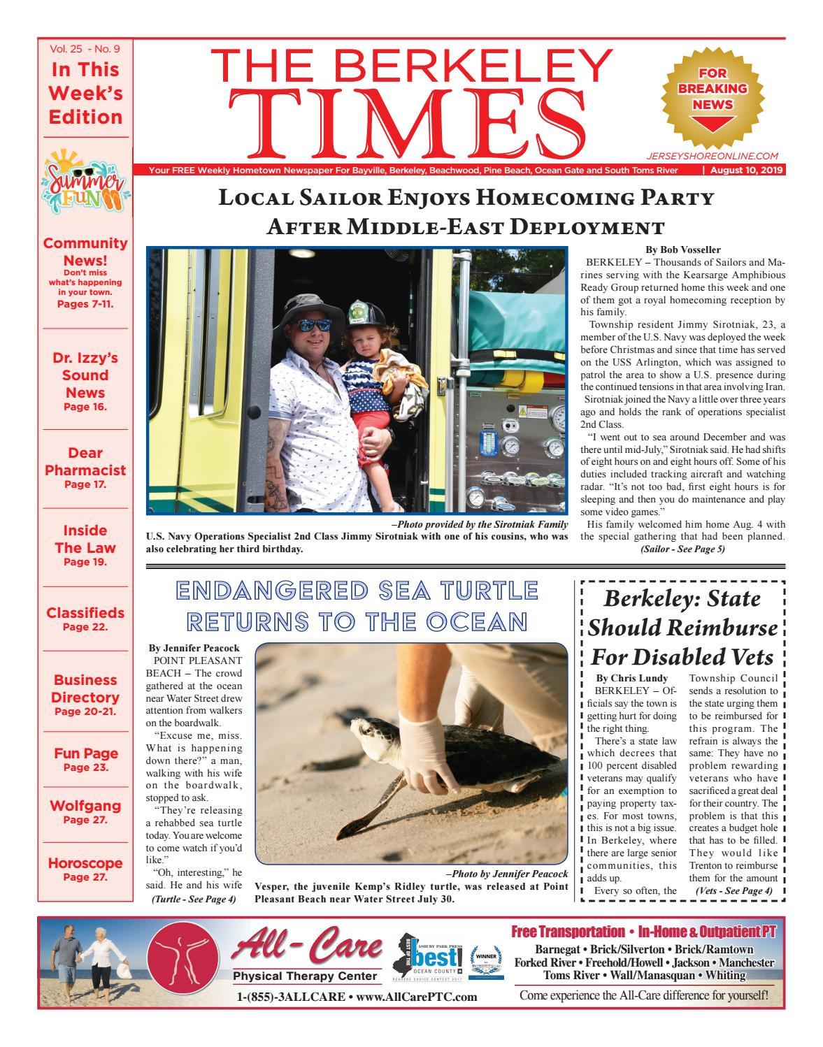 2019-08-10 - The Berkeley Times by Micromedia Publications