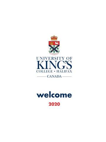 2020 Viewbook – University of King's College, Halifax
