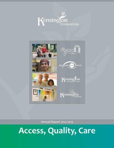 The Kensington Health Foundation Annual Report (2012/2013