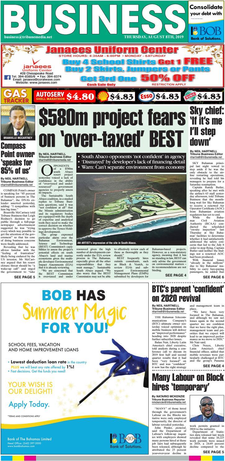 08082019 Business By Tribune242 Issuu