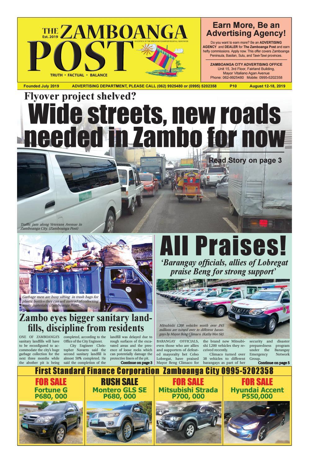 The Zamboanga Post (August 12-18, 2019) by Mindanao Examiner