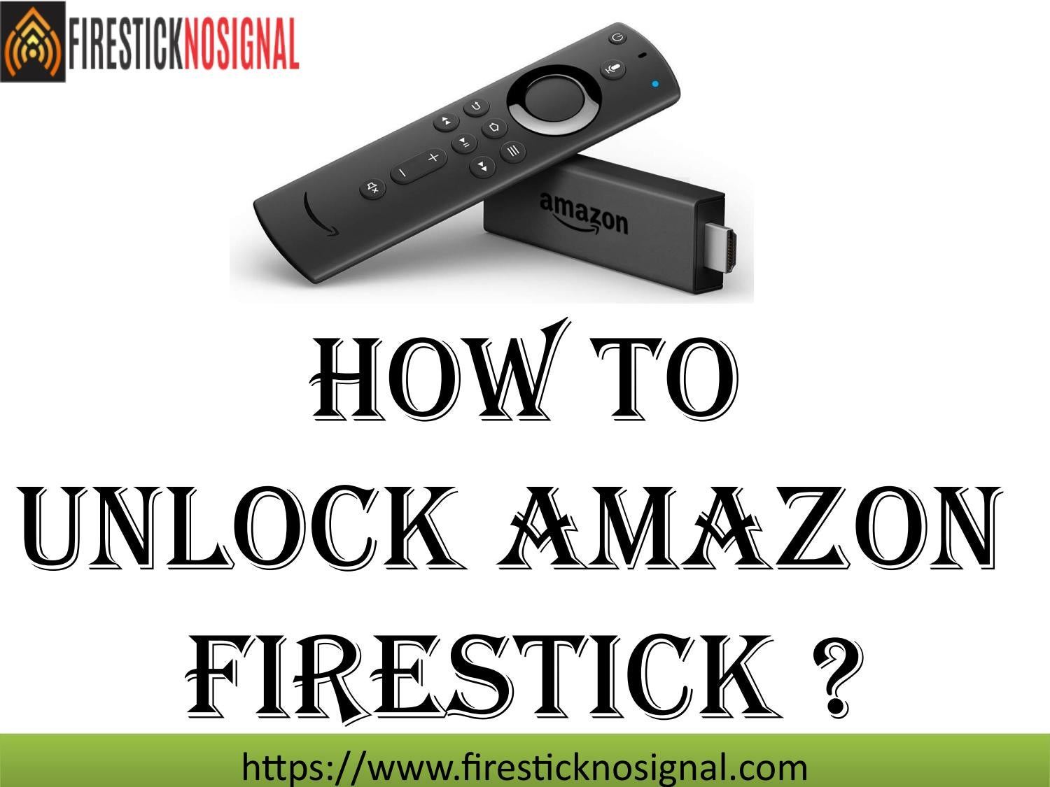 How to unlock fire stick? Firestick customer Support by