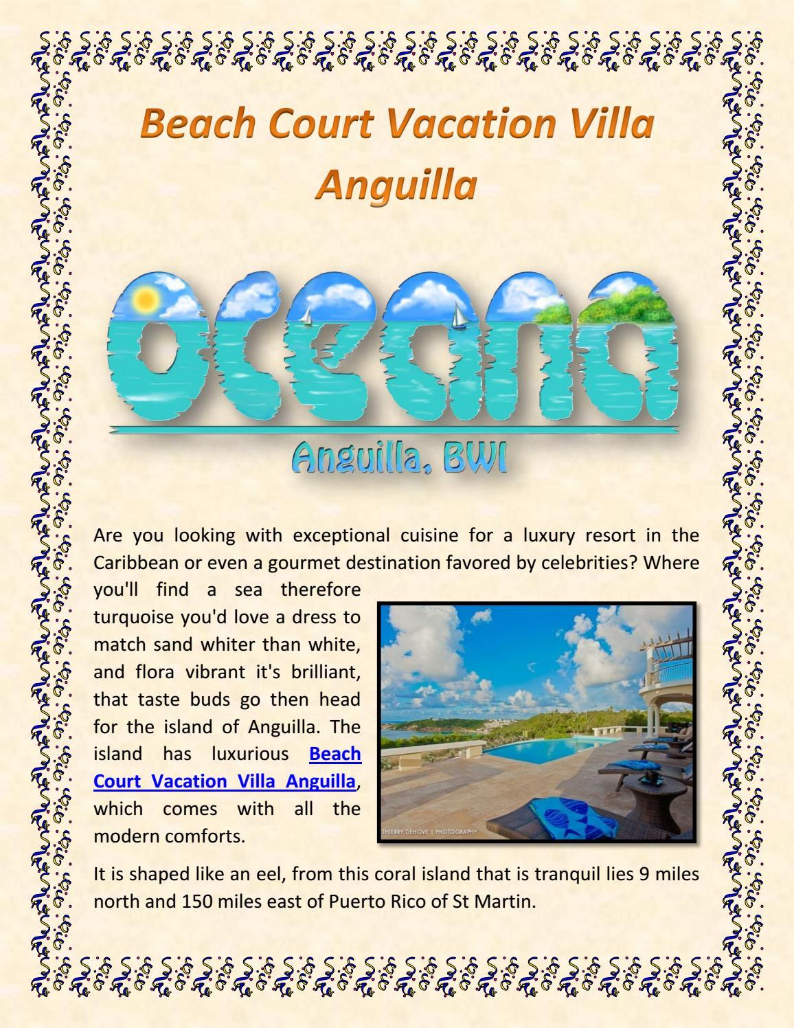 Beach Court Vacation Villa Anguilla