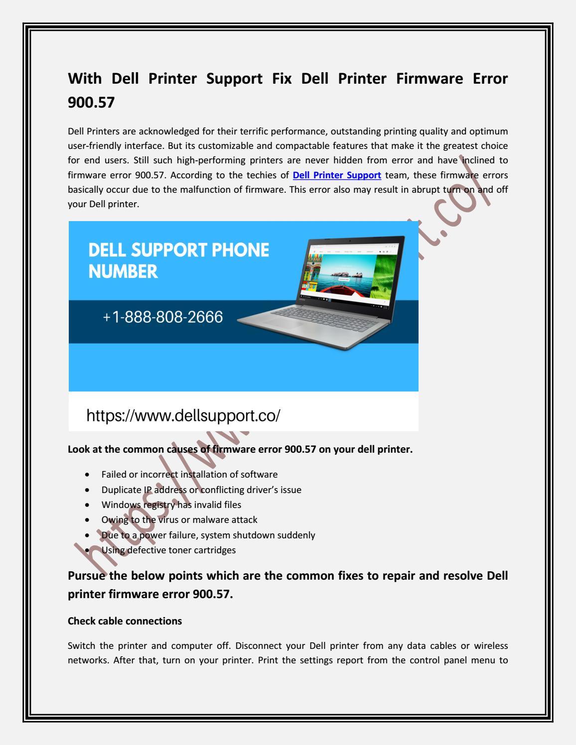 dell b2360d firmware error 900.57