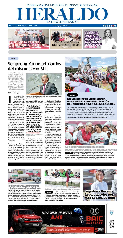 Viernes 9 Agosto 2019 By Heraldo Estado De México Issuu