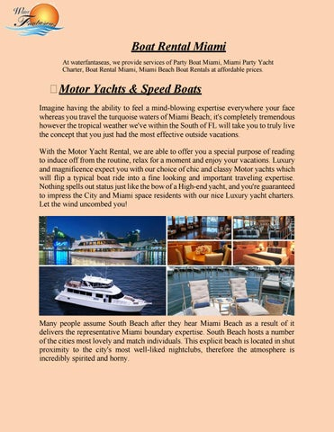 Yacht Charter Companies Fort Lauderdale Waterfantaseas By