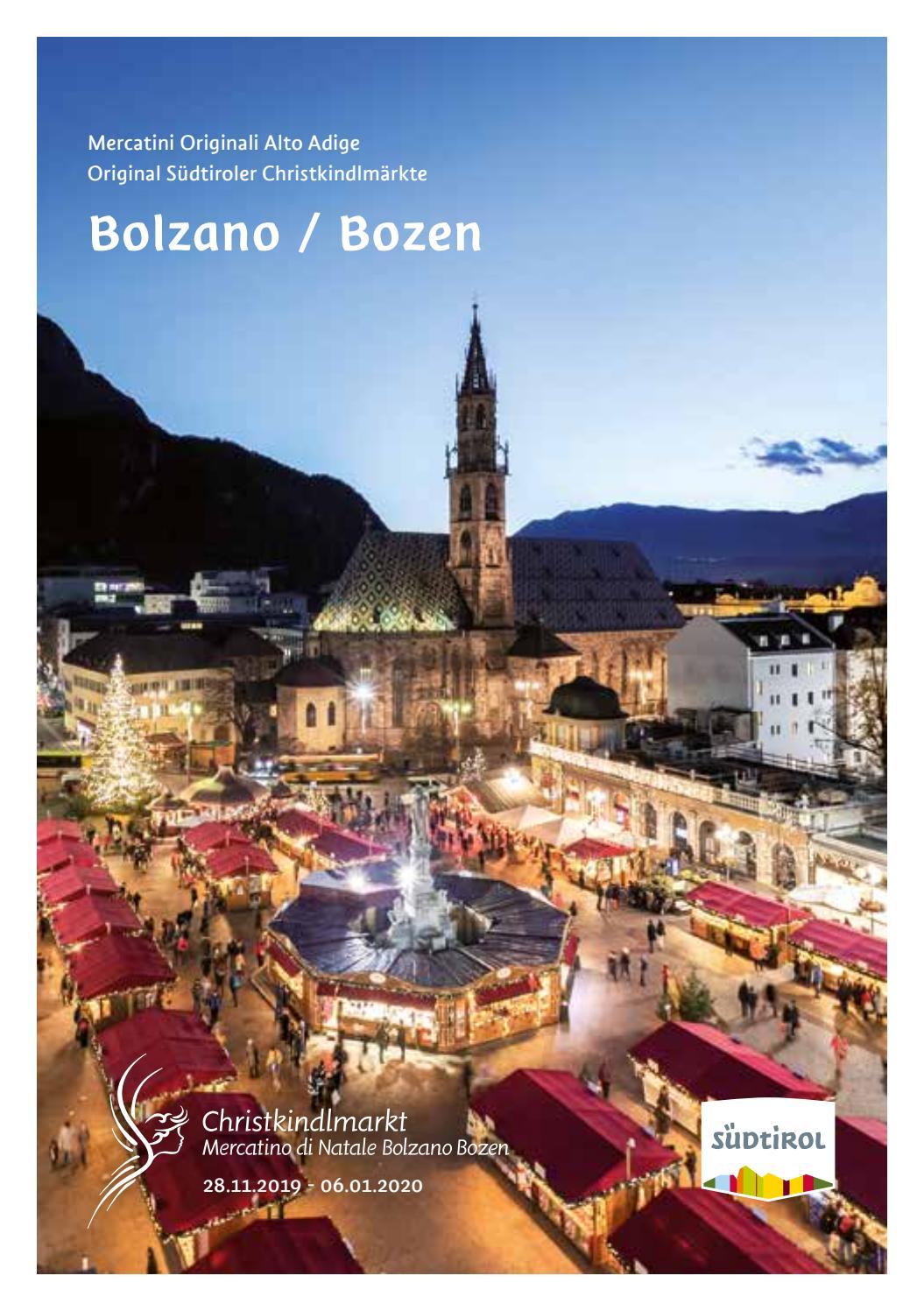 Bolzano Mercatini Di Natale.Mercatino Di Natale Bolzano Bozner Christkindlmarkt 2019 2020 By Bolzano Bozen Issuu