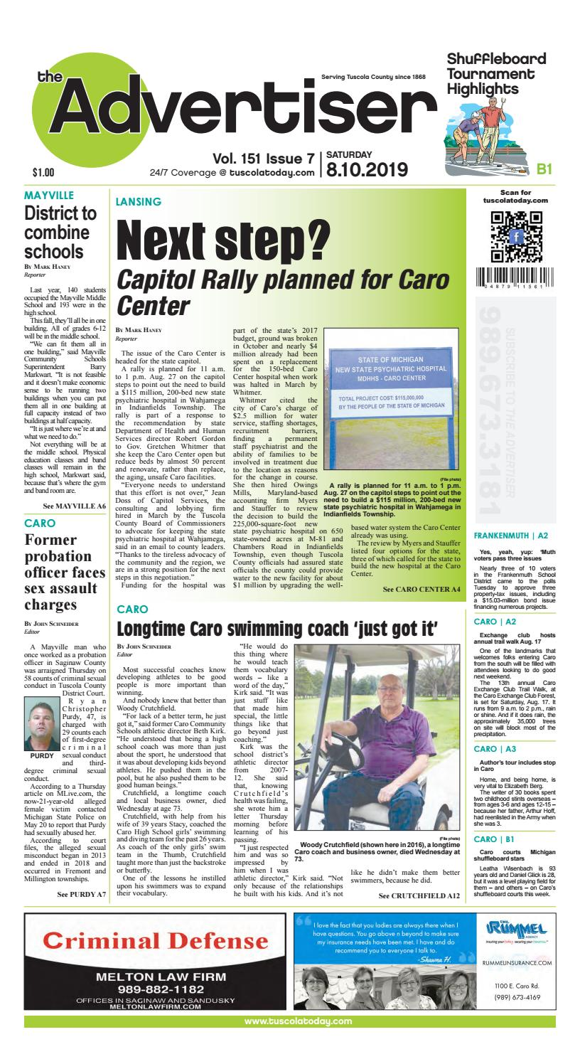 TCA 8-10-19 by Tuscola County Advertiser - issuu