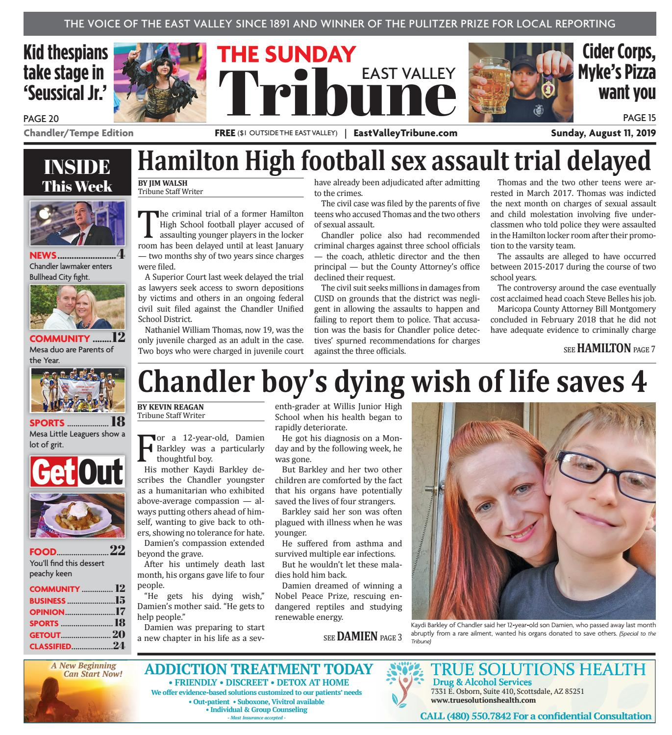 East Valley Tribune Chandler 08 11 2019 By Times Media Group Issuu