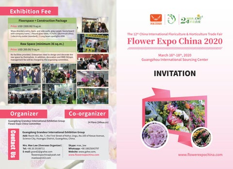 China Trade Fair 2020.Brochure Of 2020 China International Floriculture And