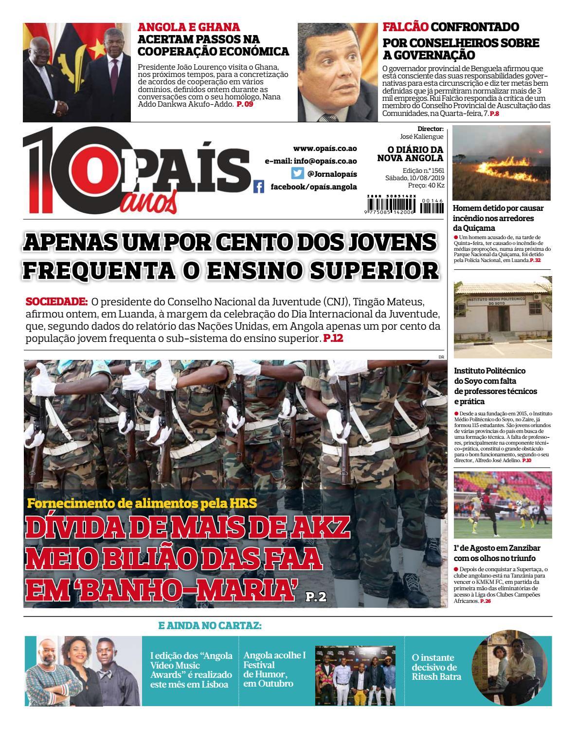 Jornal Opaís Edição N1561 De 10 08 2019 By Opaís Issuu