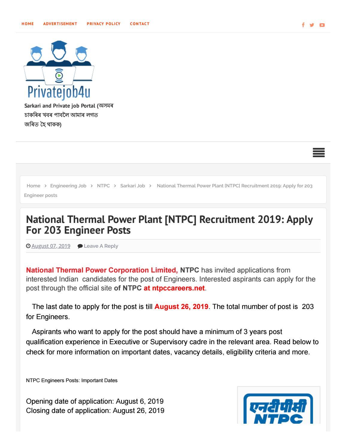 IOCL Recruitment 2019 @ Assam:Technician Apprentice [176