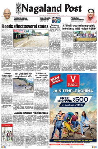 August 10, 2019 by Nagaland Post - issuu
