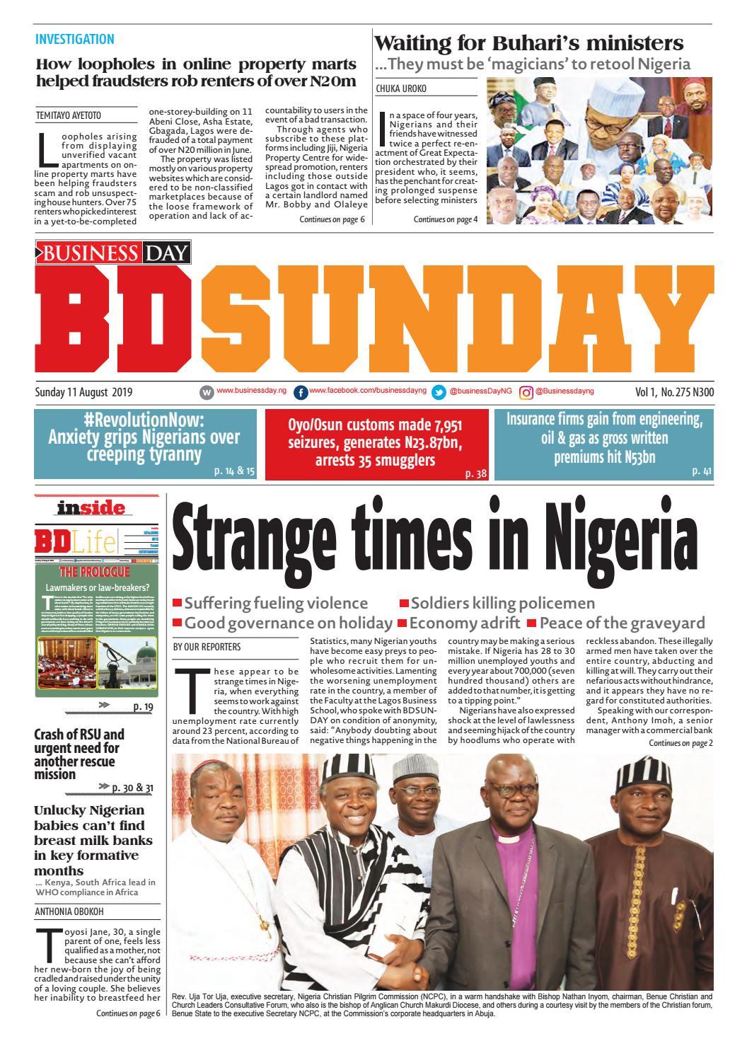 BusinessDay 11 Aug 2019 by BusinessDay - issuu