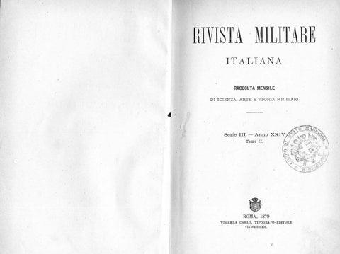 Rivista Militare 1879 Tomo Ii By Biblioteca Militare Issuu