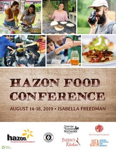2019 Hazon Food Conference Program Book by Hazon - issuu