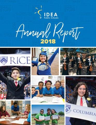 IDEA Public Schools: Annual Report 2018 by IDEA Public