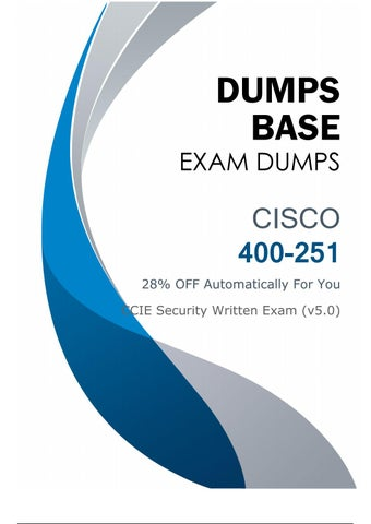 2019 Newly Updated 400-251 Dumps V18 02 - 100% Passing