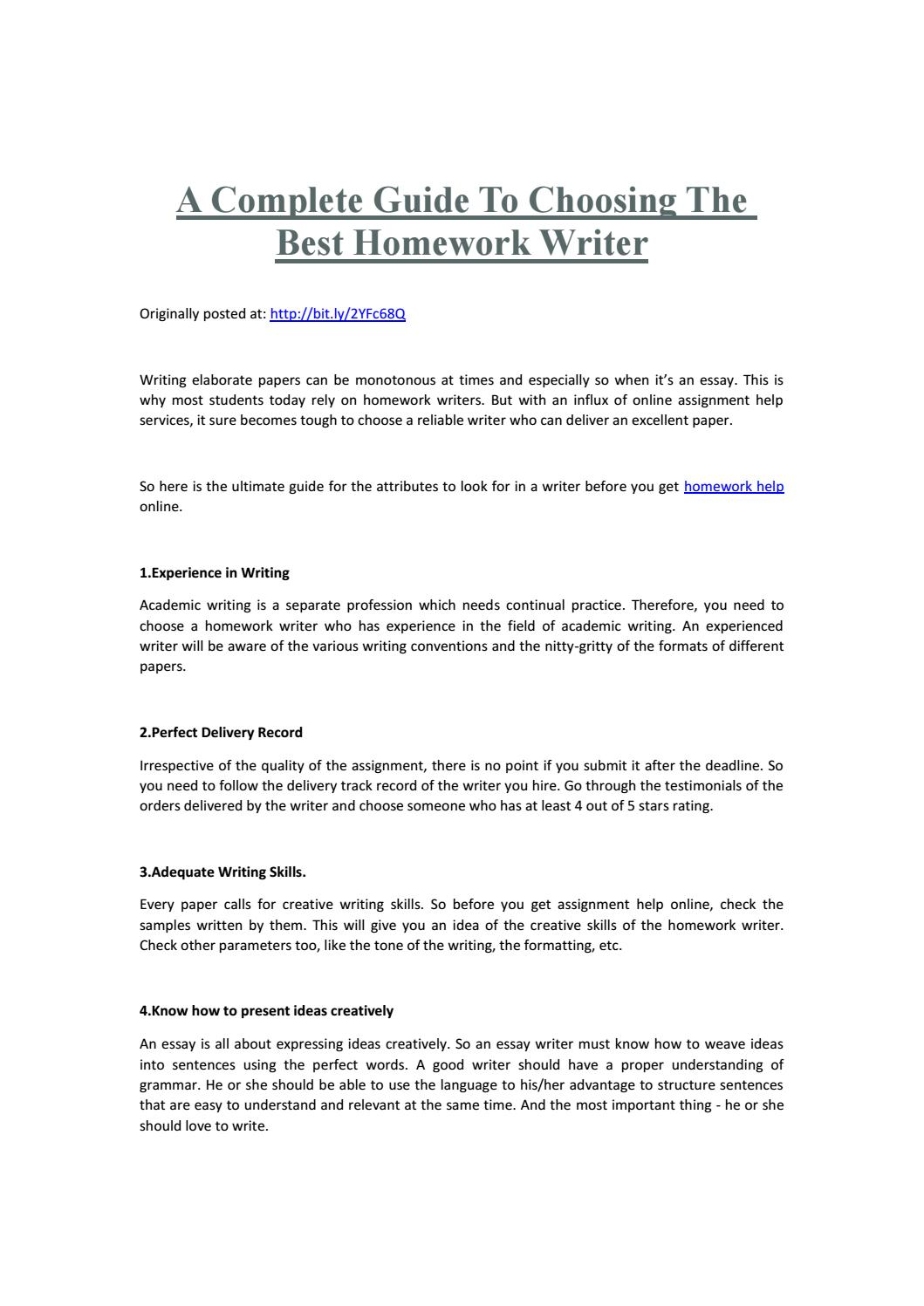 Home work writing for hire kenko essays on idleness